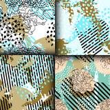 Modelo inconsútil con los elementos geométricos Fotos de archivo
