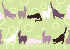 Modelo inconsútil con los gatos Foto de archivo libre de regalías