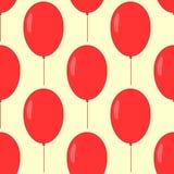 Modelo inconsútil con los globos Impresión festiva sin fin para los niños Imagenes de archivo