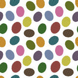 Modelo inconsútil con los huevos de Pascua Imagen de archivo libre de regalías
