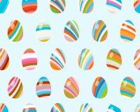Modelo inconsútil con los huevos de Pascua. + EPS8 stock de ilustración