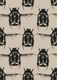 Modelo inconsútil con los insectos negros Ilustración del Vector