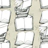 Modelo inconsútil con los libros Fotografía de archivo libre de regalías