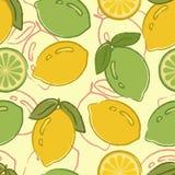 Modelo inconsútil con los limones Imagenes de archivo