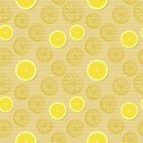 Modelo inconsútil con los limones Fotos de archivo libres de regalías