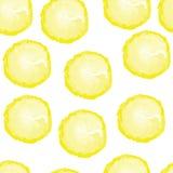 Modelo inconsútil con los limones foto de archivo libre de regalías