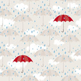 Modelo inconsútil con los paraguas Fotografía de archivo libre de regalías
