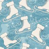Modelo inconsútil con los patines Imagenes de archivo