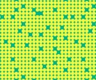 Modelo inconsútil con los pequeños círculos amarillos Fotografía de archivo