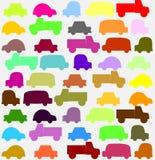 Modelo inconsútil con los pequeños coches coloridos Fotografía de archivo libre de regalías