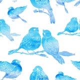 Modelo inconsútil con los pequeños pájaros Foto de archivo libre de regalías