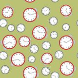 Modelo inconsútil con los relojes 575 libre illustration