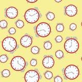Modelo inconsútil con los relojes 572 ilustración del vector