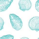Modelo inconsútil con los Seashells Imagen de archivo libre de regalías