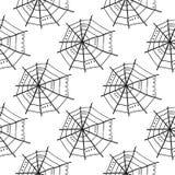 Modelo inconsútil con los spiderwebs del garabato Vector libre illustration