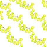 Modelo inconsútil con los triángulos de las uvas blancas, fondo abstracto de la fruta stock de ilustración