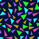 Modelo inconsútil con los triángulos del color Imagen de archivo