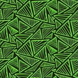 Modelo inconsútil con los triángulos verdes claros Imagenes de archivo