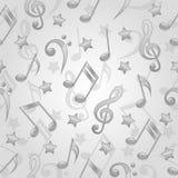 Modelo inconsútil con notas musicales Foto de archivo