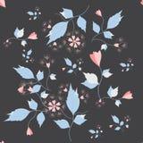 Modelo inconsútil con pequeños colores y hojas, imagen de archivo