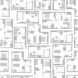 Modelo inconsútil con proyectos arquitectónicos del apartamento y de los muebles