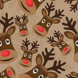 Modelo inconsútil con Rudolph Imagen de archivo