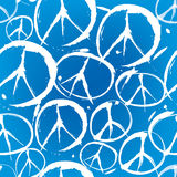 Modelo inconsútil con símbolos de la paz Imagen de archivo libre de regalías