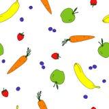Modelo inconsútil con sabor a fruta en vector Foto de archivo libre de regalías