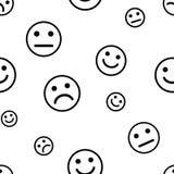 Modelo inconsútil con sonrisas Ilustración del vector stock de ilustración