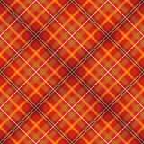 Modelo inconsútil controlado escocés rojo de la tela Imagenes de archivo