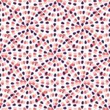 Modelo inconsútil creativo con el ornamento creativo a pulso El rosa puntea el fondo abstracto Plantilla de la materia textil del Imagen de archivo