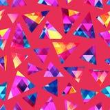 Modelo inconsútil cristalino coloreado ilustración del vector