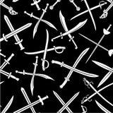 Modelo inconsútil cruzado del vector de las espadas Foto de archivo