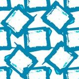 Modelo inconsútil cuadrado manchado geométrico abstracto Foto de archivo