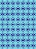 Modelo inconsútil de Argyle Diamond del esquema azul ilustración del vector