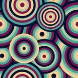 Modelo inconsútil de Backround del extracto del vintage púrpura inconsútil retro de los discos que repite el modelo ilustración del vector