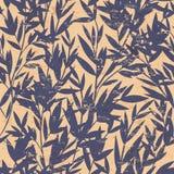 Modelo inconsútil de bambú floral del vector Foto de archivo libre de regalías