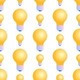 Modelo inconsútil de bombillas en el fondo blanco stock de ilustración