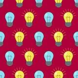 Modelo inconsútil de bombillas Símbolo de la idea Ilustración del vector ilustración del vector