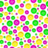 Modelo inconsútil de botones coloreados Imagen de archivo libre de regalías