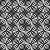 Modelo inconsútil de círculos abstractos en un fondo negro Imágenes de archivo libres de regalías