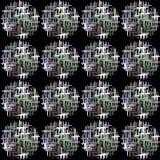 Modelo inconsútil de círculos en la sección abstracta Imagen de archivo libre de regalías