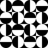 Modelo inconsútil de círculos y de cuadrados Stock de ilustración