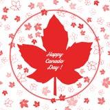 Modelo inconsútil de Canadá Día feliz de Canadá Foto de archivo libre de regalías