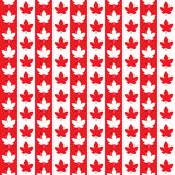 Modelo inconsútil de Canadá Día feliz de Canadá Fotografía de archivo