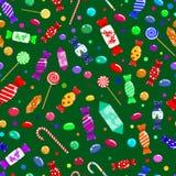 Modelo inconsútil de caramelos Foto de archivo