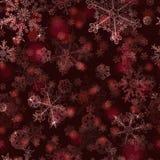 Modelo inconsútil de copos de nieve Imagenes de archivo