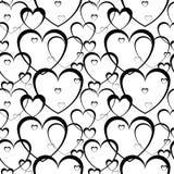 Modelo inconsútil de corazones Foto de archivo libre de regalías