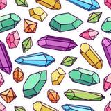 Modelo inconsútil de cristales stock de ilustración