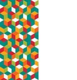 Modelo inconsútil de cubos coloreados Imagen de archivo libre de regalías